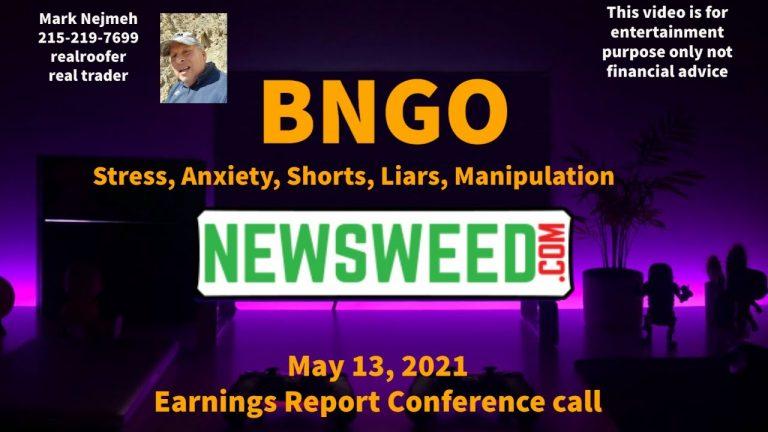 BNGO Bionano Genomics Earnings Call May 13, 2021